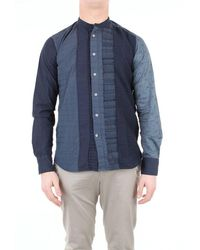 Bevilacqua Patterned Cotton Shirt - Blue