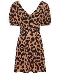 Hayley Menzies Mini Dress With Matching Belt - Brown