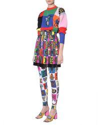 Versace Patchwork Oversized Sweater - Multicolor