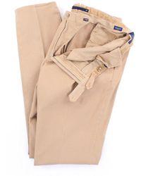 Incotex - Men's 1agw394290mbeige Beige Leather Pants - Lyst