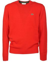 Lacoste Sweaters - Red