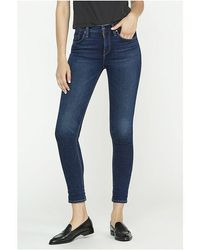 Hudson Jeans Nico Mid Rise Super Skinny Jeans Obscurity - Blue