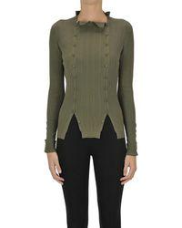 Jacquemus Ribbed Viscose Knit Pullover - Green