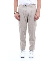 PT Torino Cotton Pants With Large Pockets - Natural