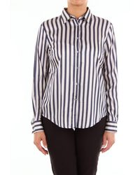 Camicettasnob Blouse Snob Two-tone Striped Shirt - Brown