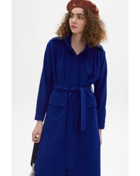 Rodebjer - Odessa Deep Sea Blue Coat - Lyst