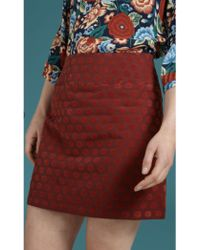 King Louie - Olivia Skirt Blini In Brique Red - Lyst