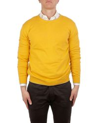 Altea - Men's 185105061 Yellow Cotton Sweater - Lyst
