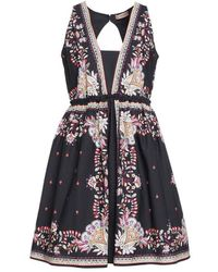 Twin Set Dress With Allover Print - Black