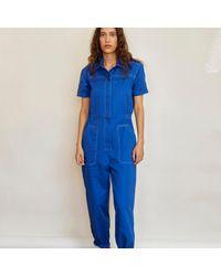 SIDELINE Lola Jumpsuit - Blue