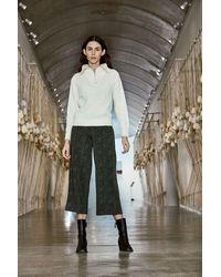 Ichi Kate Zebra Wide Leg Trousers- Ivy -20114592 - Green