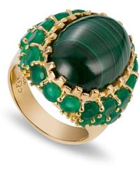 Coco & Kinney Martha Mae Green Ring - Metallic
