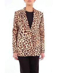be Blumarine Leopard-print Blazer - Multicolor