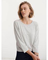 Nrby Rhona Jersey Dolman Sleeve Top - Gray