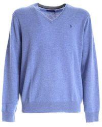 Ralph Lauren Polo Men's Knitwear 710667377018 Lattice Blue Heather