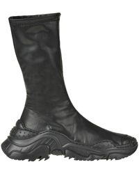N°21 Stretch Nappa Leather Ankle Boots - Black