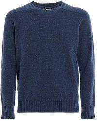 Paolo Fiorillo Capri Melange Cashmere Crew Neck Sweater - Blue