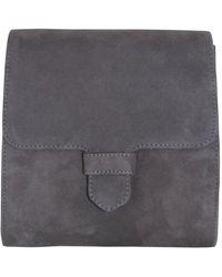 Unisa Zalara Suede Chain Strap Shoulder Bag Slate - Grey