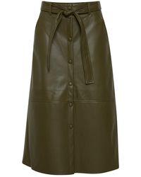 Ichi Acoca Ivy Skirt - Green