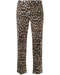 Michael Kors Women's Mf99crkcfw211 Brown Cotton Jeans