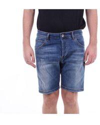 Entre Amis Men's P2089601343l481jeansscuro Blue Cotton Shorts