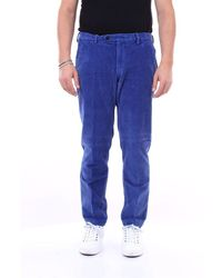 Michael Coal Capri Trousers With America Pocket - Blue