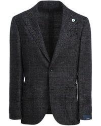 Lardini Men's Im534aeimc55507450bl Grey Wool Blazer