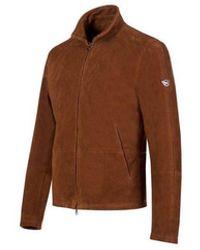 Matchless Craig Blouson Suede Jacket Colour: Chocolate - Brown