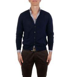 Altea Men's 18512521 Blue Cotton Cardigan
