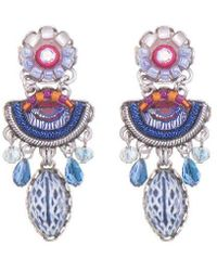 Ayala Bar Morning Glory Pukka Earrings - Multicolor
