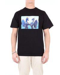 Pam Men's 1345fsc1black Black Cotton T-shirt