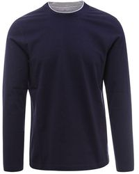 Brunello Cucinelli Cotton T-shirt - Blue