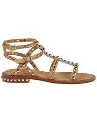 Ash Women's Precious010soft Beige Leather Sandals - Brown