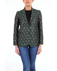 be Blumarine Two-tone Patterned Blazer - Green