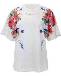 Moschino Boutique Floral Pattern T-shirt - White