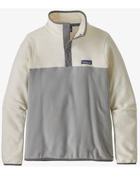 Patagonia Jersey W's Micro D Snap-t Fleece - Drifter Gray W / White Wash