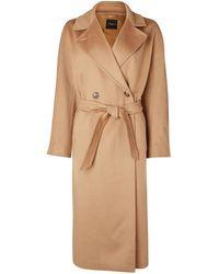 Weekend by Maxmara Camel Belted Wool Coat Katai 50160983 - Brown