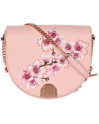 Ted Baker - Women's Susy Soft Blossom Half Moon Crossbody Bag - Lyst