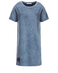 Monari Loose Fit Crew Neck Dress - Blue
