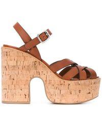 Miu Miu - Platform Sole Sandals - Lyst