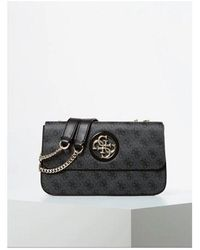 Guess Noelle Mini Cross Body Bag Colour: Coal - Black