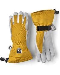 Hestra Heli Ski 5 Finger Glove Mustard / Off White - Yellow