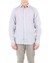 Hartford Solid Colour Shirt With Long Sleeves - Grey
