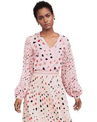 Riani Printed Blouse With Pleated Sleeves - Pink