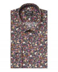 Remus Uomo Uomo Small Floral Print Shirt Coloured Colour: Coloure - Multicolour
