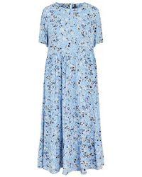 Pieces Gertrude Midi Dress - Little Boy Blue