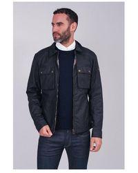 Belstaff Dunstall Jacket Colour: Air Force Blue - Black