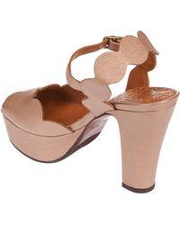 Chie Mihara - Xevo Platform Sandals In Nude - Lyst