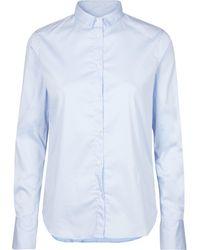 Mos Mosh - Tilda Shirt Light Blue - Lyst
