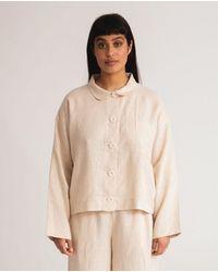Beaumont Organic Zanna Linen Jacket In Cream - White